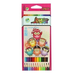 مداد رنگی ۱۲ رنگ مارک شهباز