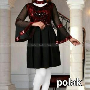 لباس مجلسی پولک عروسکی