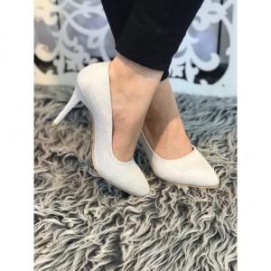 کفش مجلسی لمه سفید