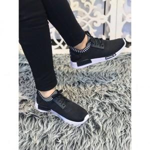 کفش کتانی دخترانه مدل ۱۰۹۰ مشکی