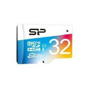 Silicon Power Elite Color microSDHC - 32GB