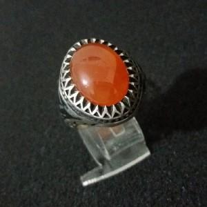 انگشتر نقره ، سنگ عقیق-تصویر 3