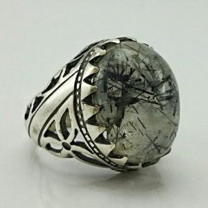 انگشتر نقره روتایل مویی اصل و معدنی