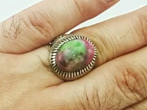 انگشتر عقیق رنگین کمانی-تصویر 4