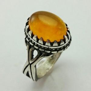 انگشتر جید پرتقالی اصل معدنی-تصویر 2