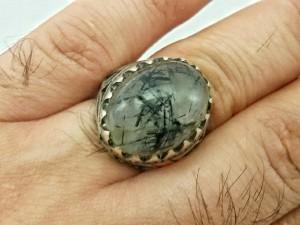 انگشتر نقره روتایل مویی اصل و معدنی-تصویر 4