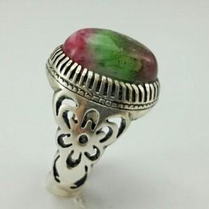 انگشتر عقیق رنگین کمانی-تصویر 3