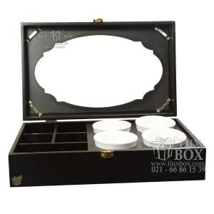 جعبه پذیرایی جعبه دمنوش جعبه چوبی لوکس باکس کد LB104 - B-تصویر 4