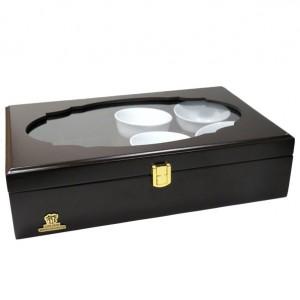 جعبه پذیرایی و دمنوش چوبی لوکس باکس کد LB104B