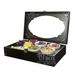 جعبه پذیرایی جعبه دمنوش جعبه چوبی لوکس باکس کد LB104 - B-تصویر 2