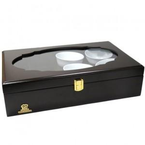 جعبه پذیرایی و دمنوش چوبی لوکس باکس کد LB104B-تصویر 4