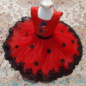 لباس دختر کفشدوزکی-تصویر 3