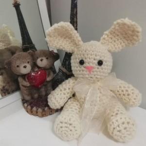 عروسک بافتنی خرس و خرگوش-تصویر 3