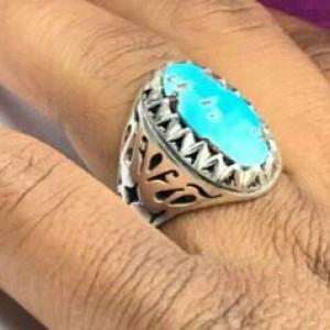 انگشتر فیروزه نیشابور اصل-تصویر 2