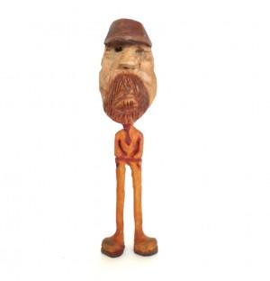 مجسمه چوبی ، آدمک چوبی ، دست سازه چوبی ، مجسمه ، آدمک ، طرح لنگ دراز