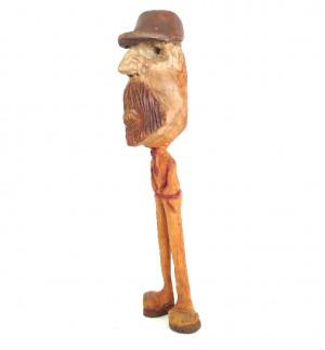 مجسمه چوبی ، آدمک چوبی ، دست سازه چوبی ، مجسمه ، آدمک ، طرح لنگ دراز-تصویر 3