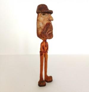مجسمه چوبی ، آدمک چوبی ، دست سازه چوبی ، مجسمه ، آدمک ، طرح لنگ دراز-تصویر 2