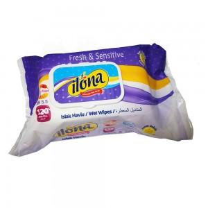دستمال مرطوب ایلونا 120 عددی مدل ilona Fresh & Sensitive-تصویر 2