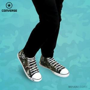 کفش مردانه آل استار طرح ارتشی-تصویر 2