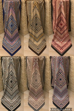 روسری تویل طرح ترمه ریز-تصویر 2