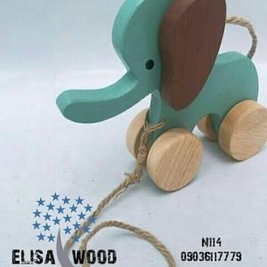 فیل چوبی N114-تصویر 3