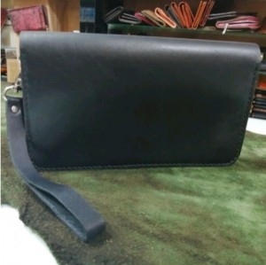 کیف پول چرم طبیعی دستی بندک دار مردانه-تصویر 4