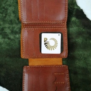 کیف پول چرم طبیعی کمری سه لت-تصویر 4