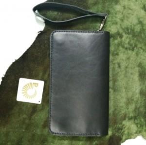 کیف پول چرم طبیعی دستی بندک دار مردانه