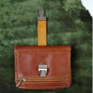 کیف پول چرم طبیعی کمری سه لت
