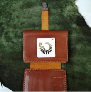 کیف پول چرم طبیعی کمری سه لت-تصویر 3