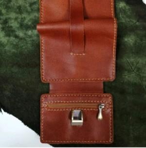 کیف پول چرم طبیعی کمری سه لت-تصویر 5
