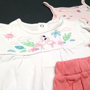 ست 3 تکه لباس نوزادی دخترانه کارترز طرح فلامینگو-تصویر 3
