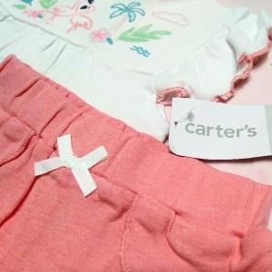 ست 3 تکه لباس نوزادی دخترانه کارترز طرح فلامینگو-تصویر 5