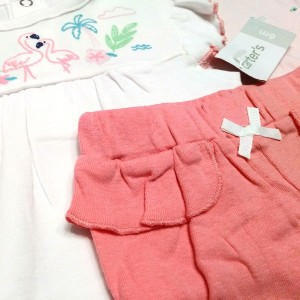 ست 3 تکه لباس نوزادی دخترانه کارترز طرح فلامینگو-تصویر 4