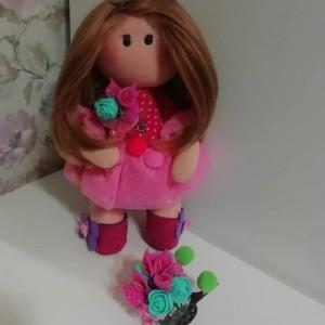 عروسک روسی صورتی-تصویر 2