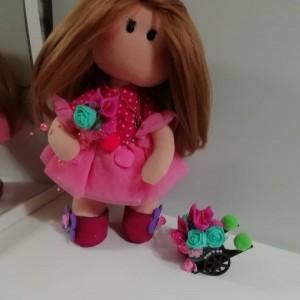 عروسک روسی صورتی-تصویر 3