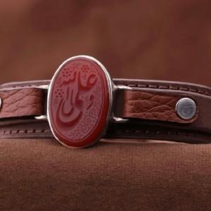 دستبند عقیق نقش علی ولی الله