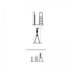 نردبان 5 پله مدل آنتیک-تصویر 2