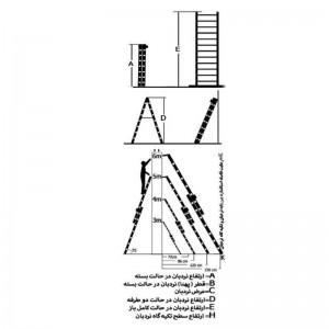 نردبان 2 تکه 16 پله مدل تک صنعت-تصویر 2