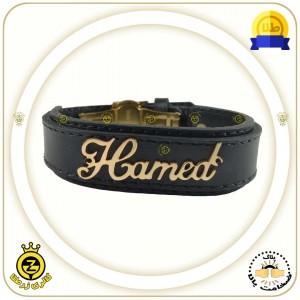 دستبند چرم اسم حامد
