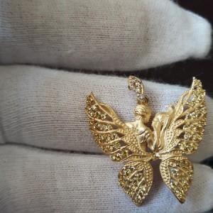 گردنبند طلا الیزابت طرح پروانه کد 701-تصویر 3