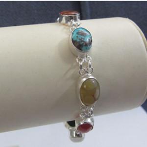 دستبند نقره جواهرسیتی کد OP104-تصویر 4