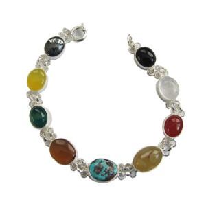 دستبند نقره جواهرسیتی کد OP104