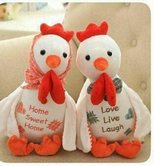 عروسک جفتی مرغ و خروس اورجینال