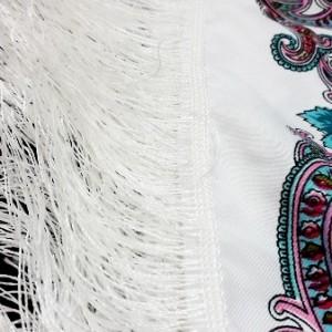 روسری درجه یک نخی زنانه ریشه دار مدل ترکمن-تصویر 5