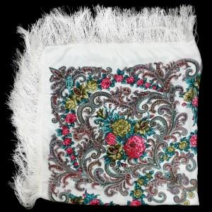 روسری درجه یک نخی زنانه ریشه دار مدل ترکمن