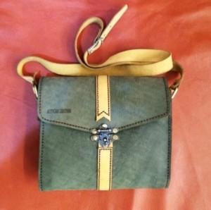 کیف چرم طبیعی دو رنگ قفل دار آقای چرم-تصویر 2