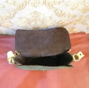 کیف چرم طبیعی دو رنگ قفل دار آقای چرم-تصویر 3