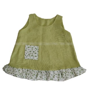 پیراهن دخترانه سبز