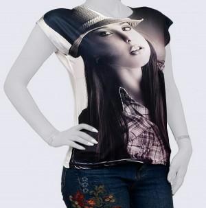 تی شرت تصویری زنانه کد 0110-تصویر 3